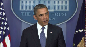 President Barack Obama addresses the nation regarding the ISIS terrorist threat. Photo courtesy of kunc.org.
